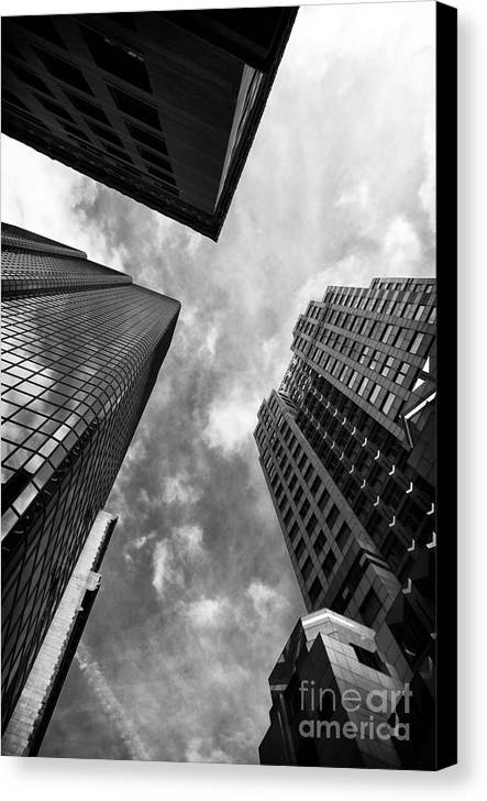Boston Rising Canvas Print featuring the photograph Boston Rising by John Rizzuto