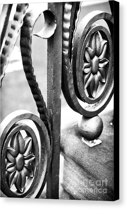 Charleston Iron Works Ii Canvas Print featuring the photograph Charleston Iron Works II by John Rizzuto