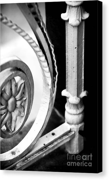 Charleston Iron Works Canvas Print featuring the photograph Charleston Iron Works by John Rizzuto