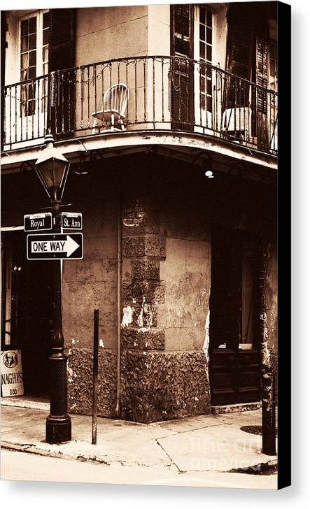 Vintage French Quarter Canvas Print featuring the photograph Vintage French Quarter by John Rizzuto