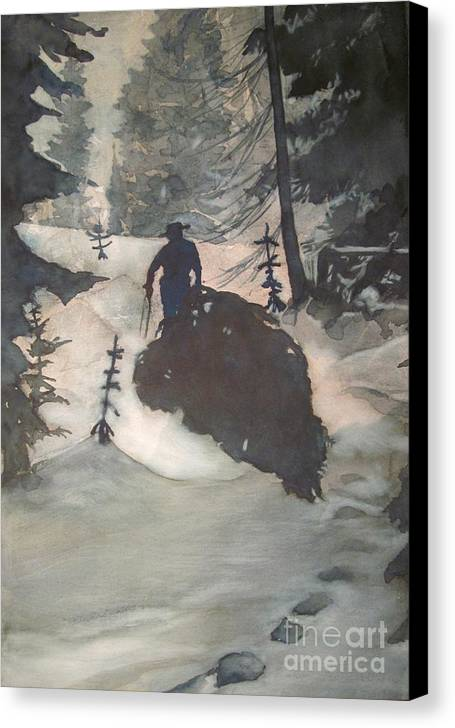 Christmas Canvas Print featuring the painting O Tannenbaum by Elizabeth Carr