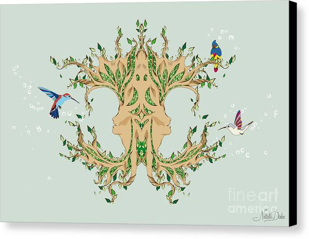 Magic Tree Canvas Print by Disko Galerie