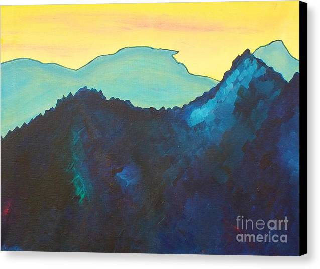 Blue Mountain Canvas Print by Silvie Kendall