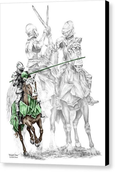 Knight Time - Renaissance Medieval Print Color Tinted Canvas Print by Kelli Swan
