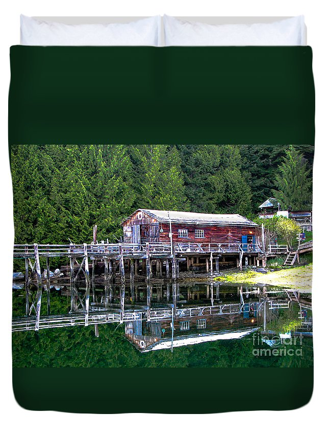 British Columbia Duvet Cover featuring the photograph Lagoon Cove by Robert Bales