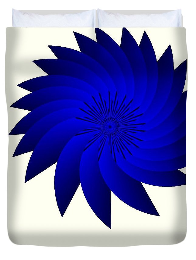 Blue Flower Duvet Cover featuring the digital art Blue Flower by Michael Skinner