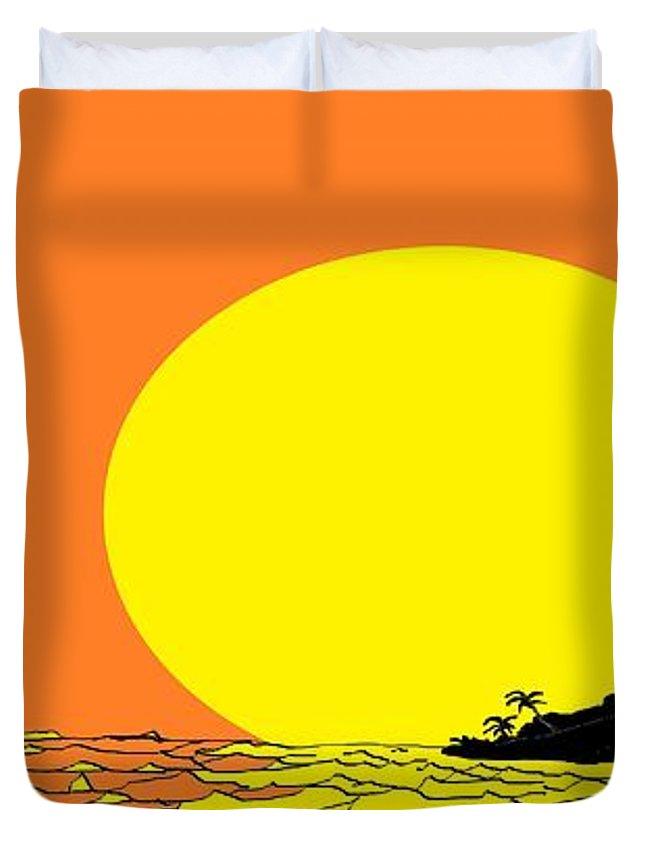 Burst Of Yellow Duvet Cover For Sale By Linda Velasquez
