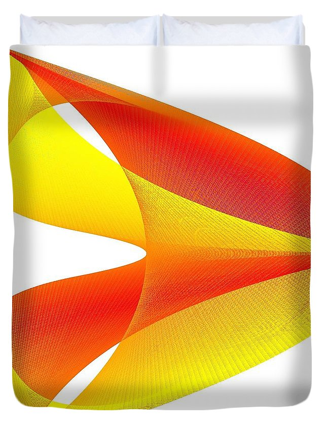 Cusp Duvet Cover featuring the digital art Cusp by Michael Skinner