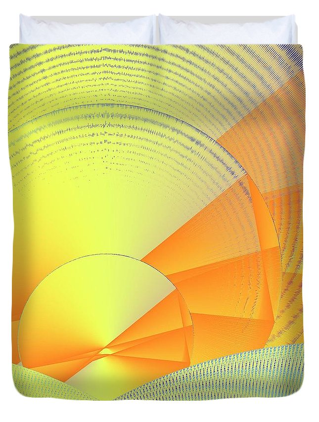 Digital Daylight Duvet Cover featuring the digital art Digital Daylight by Michael Skinner