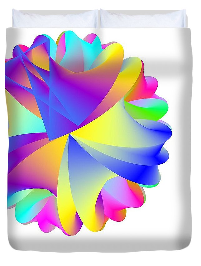 Rainbow Cluster Duvet Cover featuring the digital art Rainbow Cluster by Michael Skinner