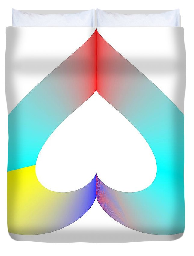 Sos Rainbow Duvet Cover featuring the digital art Rainbow Sos by Michael Skinner