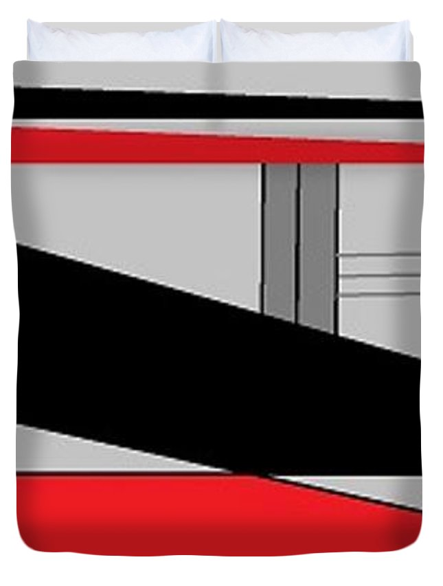 Red Grey Black 1 Duvet Cover For Sale By Linda Velasquez