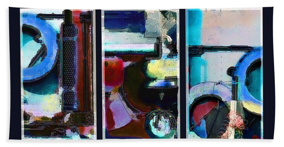 Abstract Hand Towel featuring the digital art Centrifuge by Steve Karol