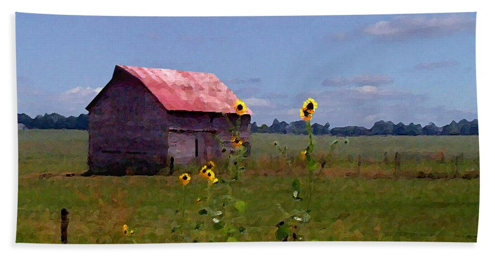Lanscape Hand Towel featuring the photograph Kansas Landscape by Steve Karol