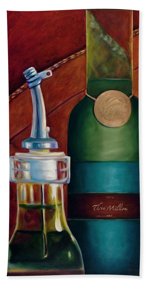 Olive Oil Hand Towel featuring the painting Three Million Net by Shannon Grissom