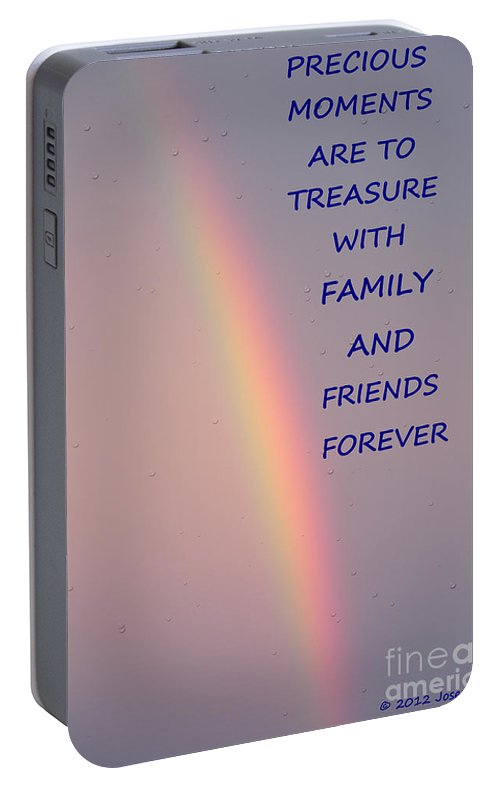 Rainbow Portable Battery Charger featuring the photograph Rainbow Happiness by Joseph Baril