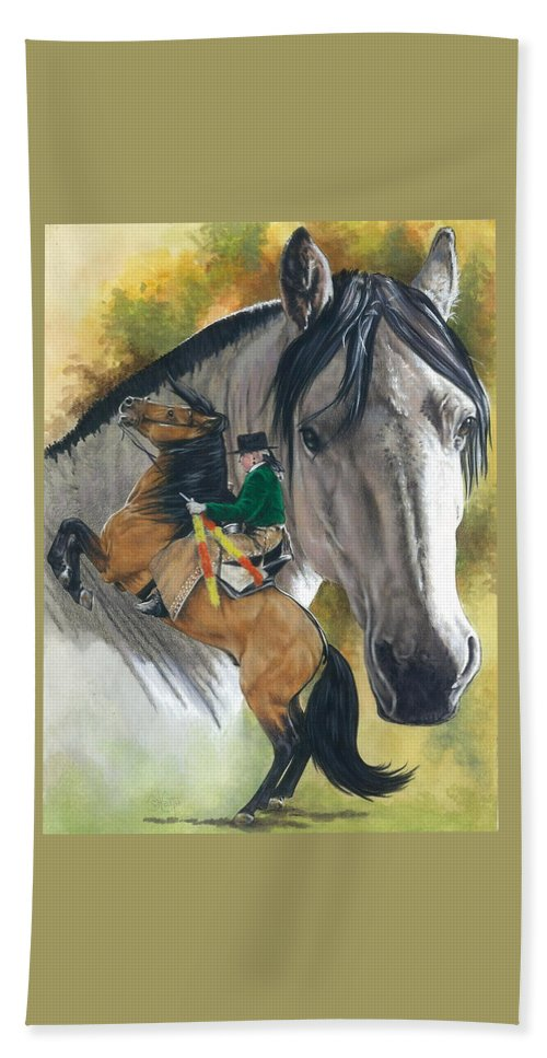 Horses Beach Towel featuring the painting Lusitano by Barbara Keith