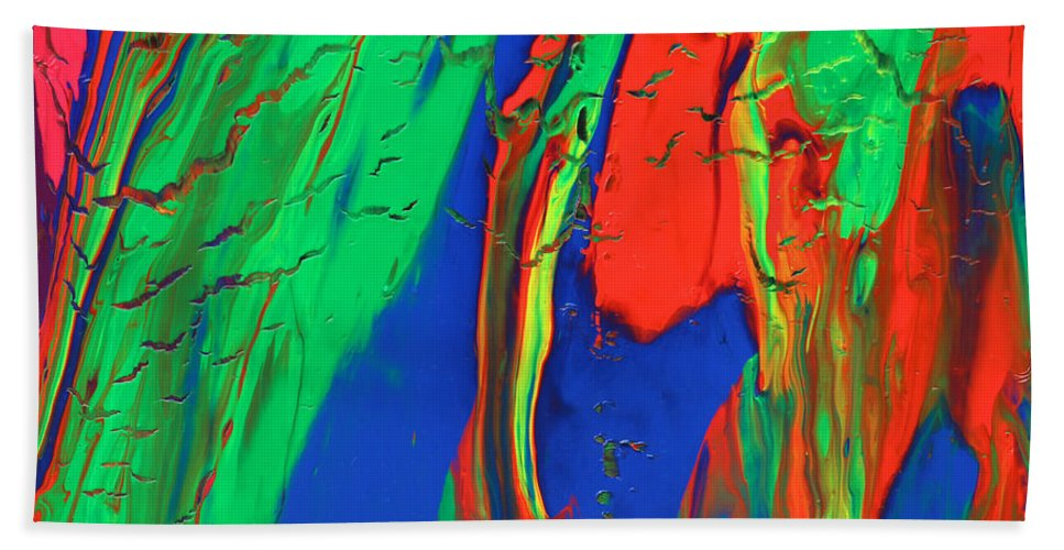 Fusionart Beach Towel featuring the painting The Escape by Ralph White