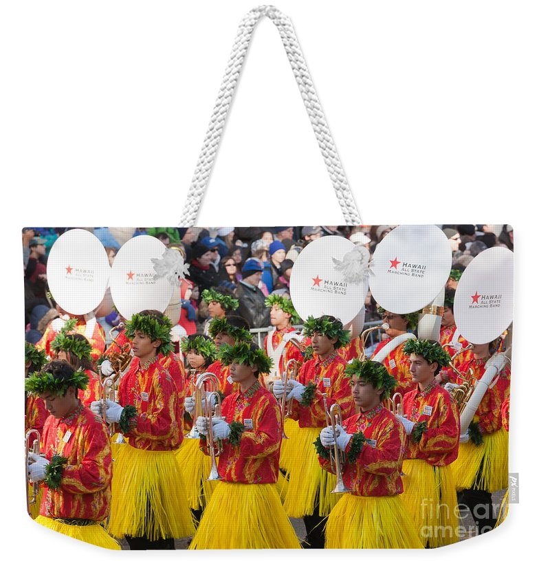 Clarence Holmes Weekender Tote Bag featuring the photograph Hawaii All-state Marching Band I by Clarence Holmes