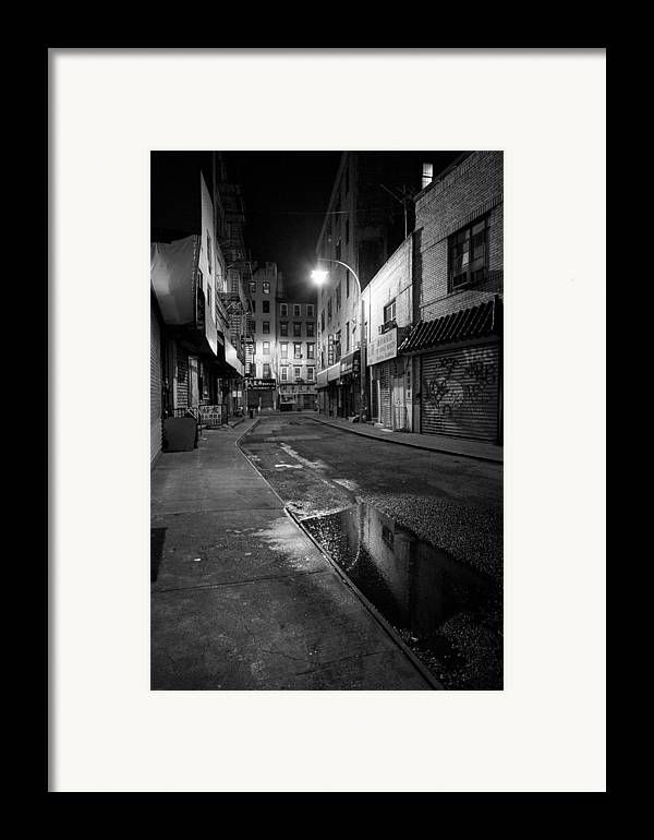 Chinatown Framed Print featuring the photograph Chinatown New York City - Doyers Street by Gary Heller