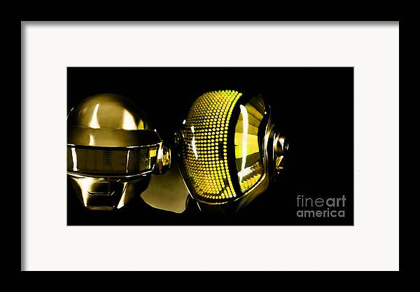 Tron Paintings Mixed Media Framed Print featuring the mixed media Daft Punk by Marvin Blaine