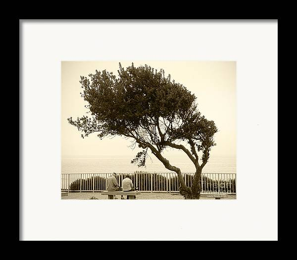 Beach Art Framed Print featuring the photograph Morning Coffee Together by Artist and Photographer Laura Wrede