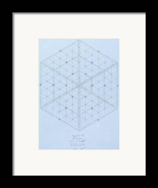 Energy Framed Print featuring the drawing Why Energy Equals Mass Times The Speed Of Light Squared by Jason Padgett