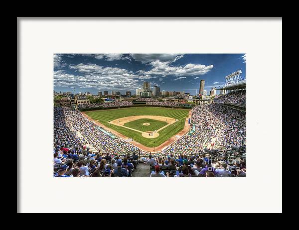 Wrigley Framed Print featuring the photograph 0234 Wrigley Field by Steve Sturgill
