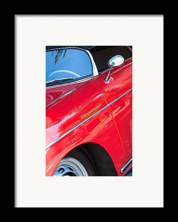 1955 Porsche 356 Speedster Framed Print featuring the photograph 1955 Porsche 356 Speedster by Jill Reger