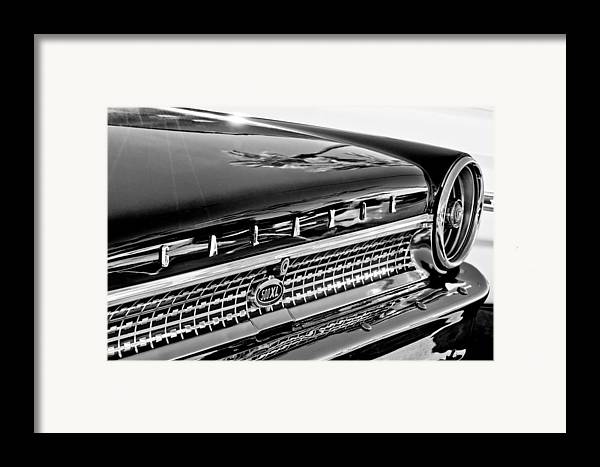 1963 Ford Galaxie 500xl Taillight Emblem Framed Print featuring the photograph 1963 Ford Galaxie 500xl Taillight Emblem by Jill Reger