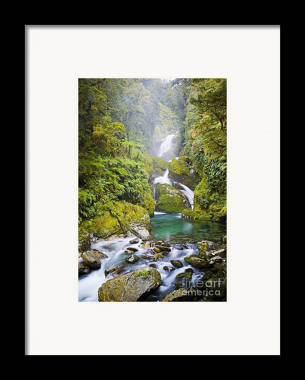 Camping Framed Print featuring the photograph Amazing Waterfall by Tim Hester