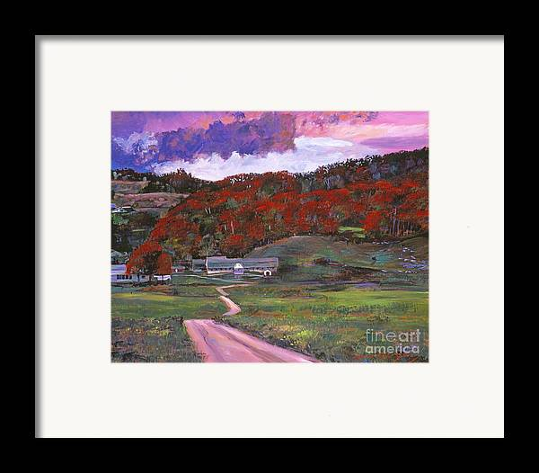 Landscape Framed Print featuring the painting Approaching Storm by David Lloyd Glover