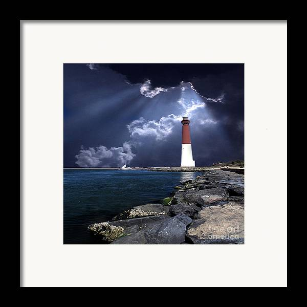 Lighthouses Framed Print featuring the photograph Barnegat Inlet Lighthouse Nj by Skip Willits