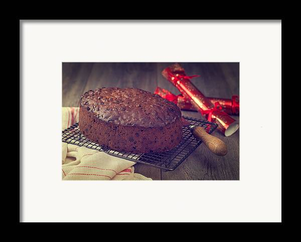 Christmas Framed Print featuring the photograph Christmas Cake by Amanda And Christopher Elwell