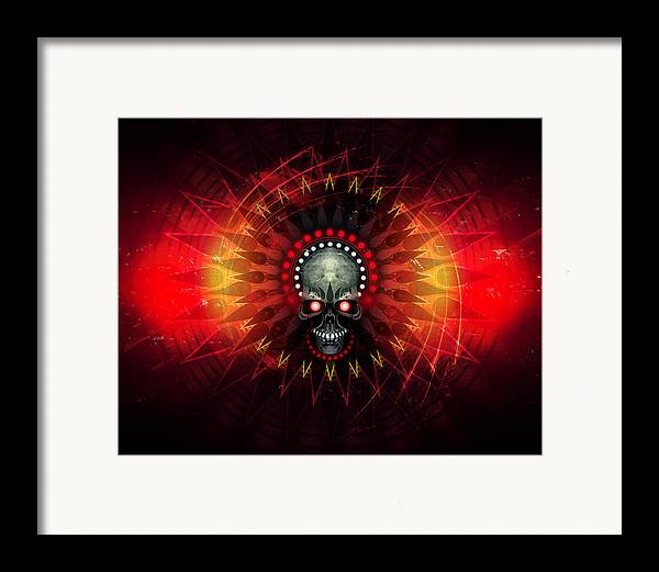 Skull Framed Print featuring the digital art Deadstep - Hellfire Remix by George Smith