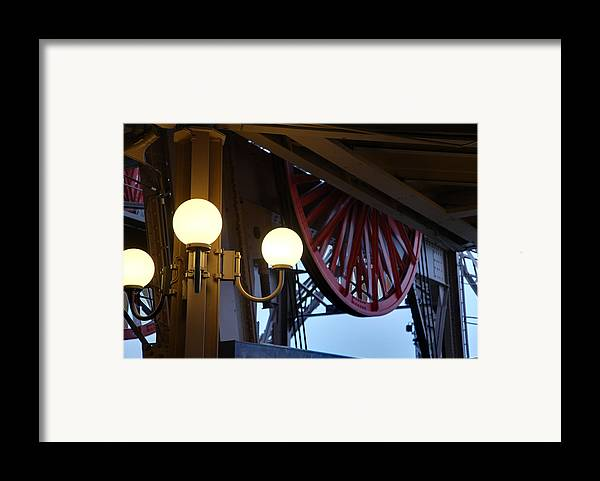Antique Framed Print featuring the photograph Eiffel Tower - Paris France - 01139 by DC Photographer
