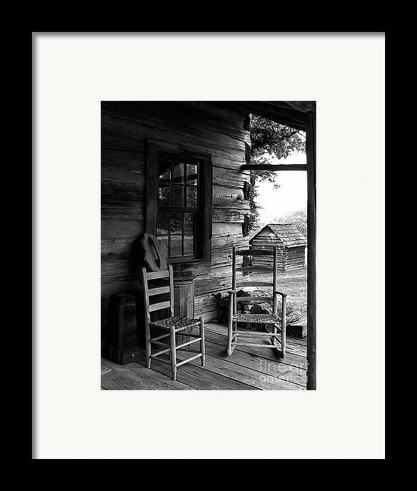 Log Cabins Framed Print featuring the photograph His And Hers by Julie Dant