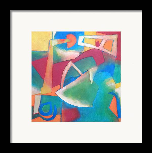 Abstract Expressionism Framed Print featuring the mixed media Jazz by Diane Fine