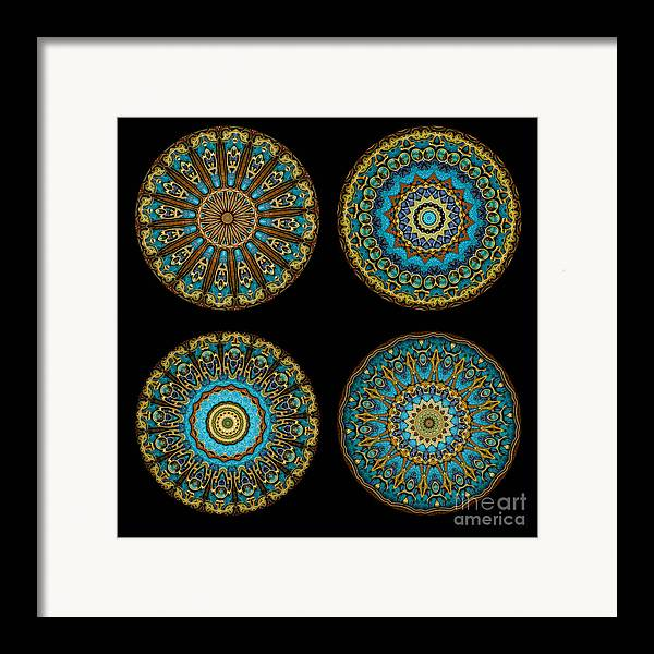 Fantasy Framed Print featuring the photograph Kaleidoscope Steampunk Series Montage by Amy Cicconi