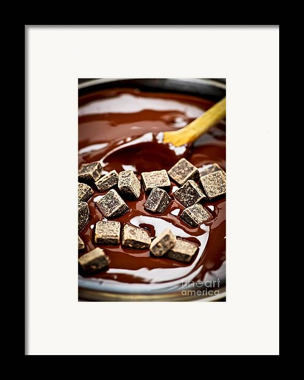 Chocolate Framed Print featuring the photograph Melting Chocolate by Elena Elisseeva