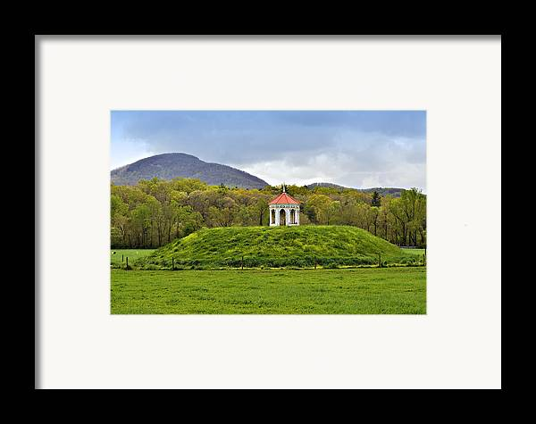 Mound Gazebo Indian Mountains Framed Print featuring the photograph Nacoochee Indian Mound by Susan Leggett