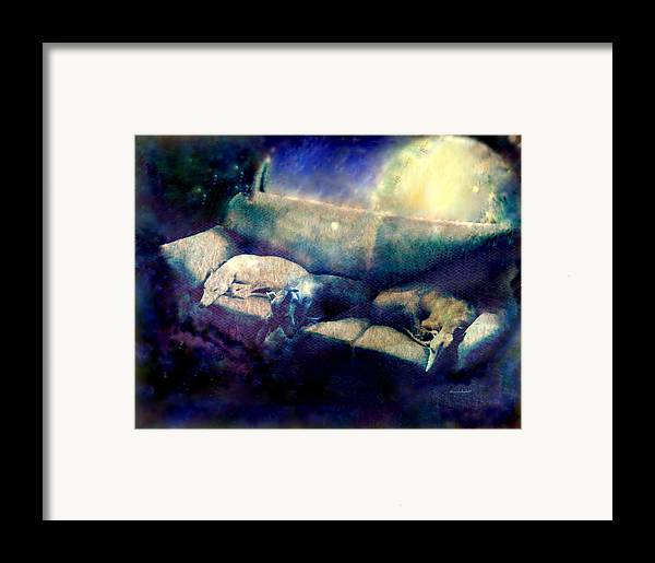 Framed Print featuring the mixed media Nap Time Dreams by YoMamaBird Rhonda