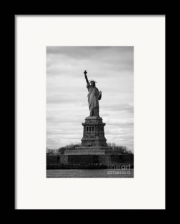 Usa Framed Print featuring the photograph Statue Of Liberty Liberty Island New York City Usa by Joe Fox