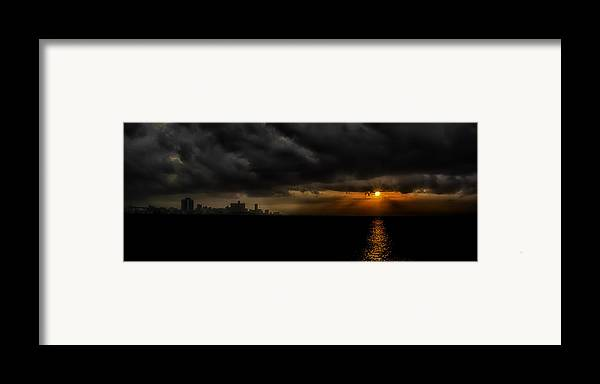 America Framed Print featuring the photograph Sunset In Havana by Erik Brede