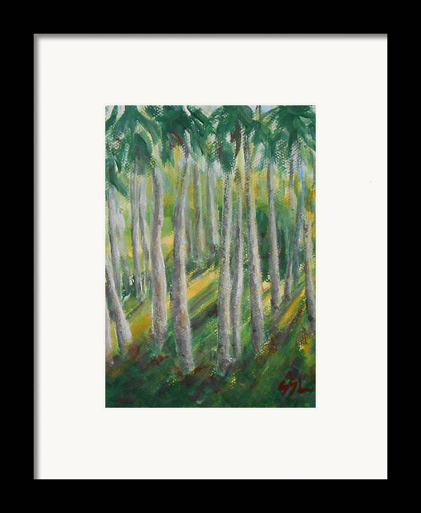 Landscape Framed Print featuring the painting Tropical by Jane See
