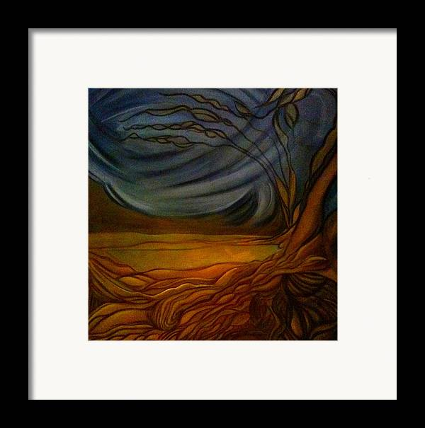 Landscape Framed Print featuring the painting Untitled by Juliann Sweet
