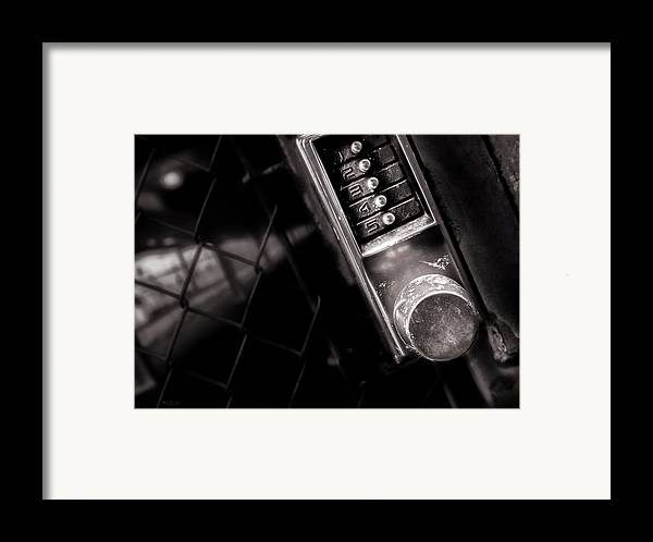 Keypad Framed Print featuring the photograph 12345 by Bob Orsillo