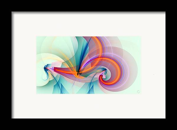 Abstract Art Framed Print featuring the digital art 1260 by Lar Matre
