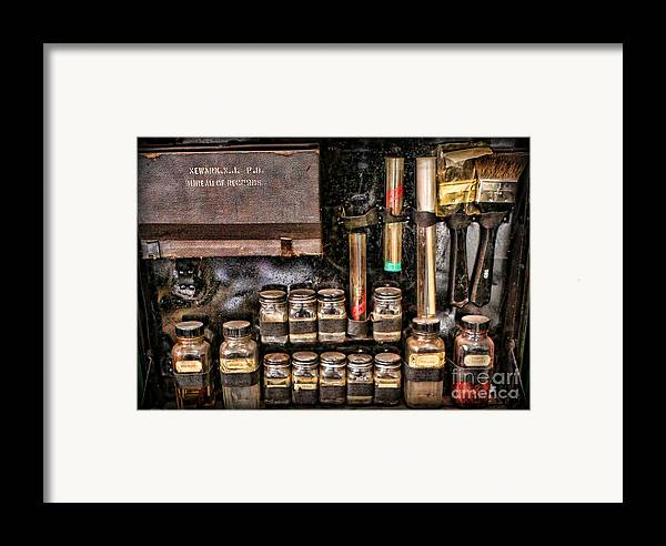 Csi Framed Print featuring the photograph 1800's Fingerprint Kit II by Lee Dos Santos