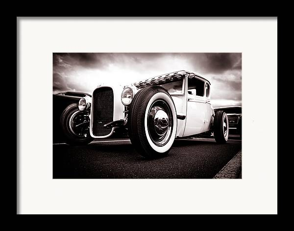 Ford Hotrod Framed Print featuring the photograph 1928 A Coupe by Phil 'motography' Clark